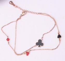 Bracelet, Gold Chain with Suit Symbols