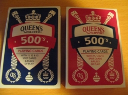 Playing Cards for 500 from Queens Slipper (plastic coated)