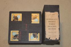 Set of 12 Duplicate Bridge Whist Dealing Boards